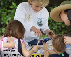 SMC Volunteer Kathleeen Phillips at Gumbo Limbo Nature Center.
