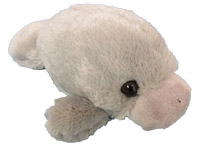 7-inch plush manatee toy