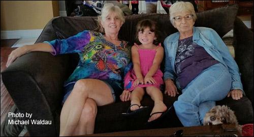 Diana Waldau and family