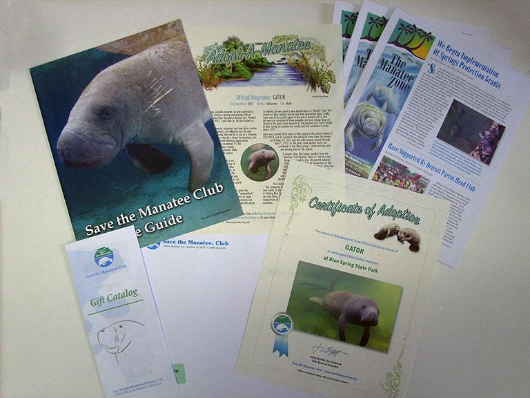 Adopt A Manatee Membership Materials