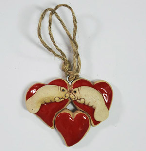 Manatee heart ornament