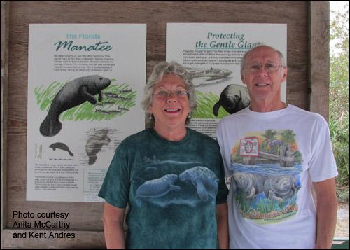 Manatee advocates Anita McCarthy and Kent Andres