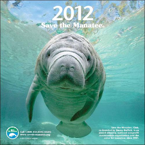 2012 Manatee Wall Calendar