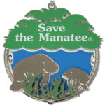 Save the Manatee metal ornament