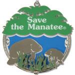 Save the Manatee metal ornament