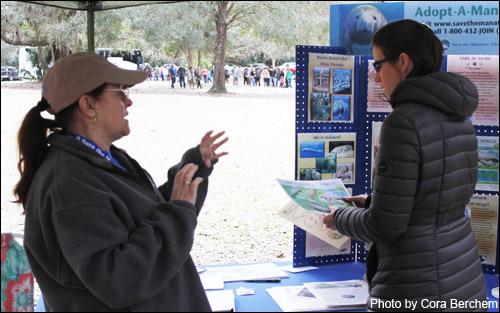 Volunteer Laura Frenchik at the Blue Spring Manatee Festival