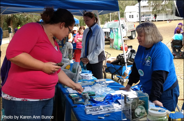 Volunteer Deb Brown at the Blue Spring Manatee Festival