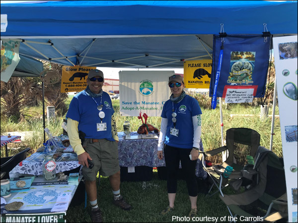 Save the Manatee Club Volunteers Tim Tamara Carroll
