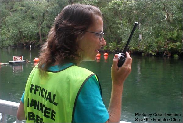 Manatee Observer Volunteer Jackie Cheers