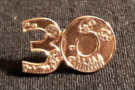 30-Year Volunteer Pin