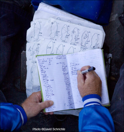Wayne Hartley's manatee research Notes