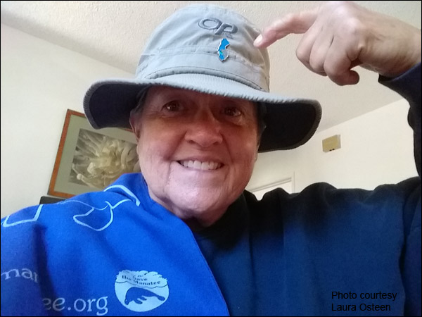 Save the Manatee Club Volunteer Laura Osteen from California