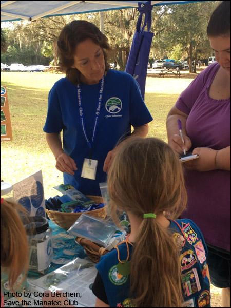 Volunteer Jackie Cheers at Blue Spring Education Day