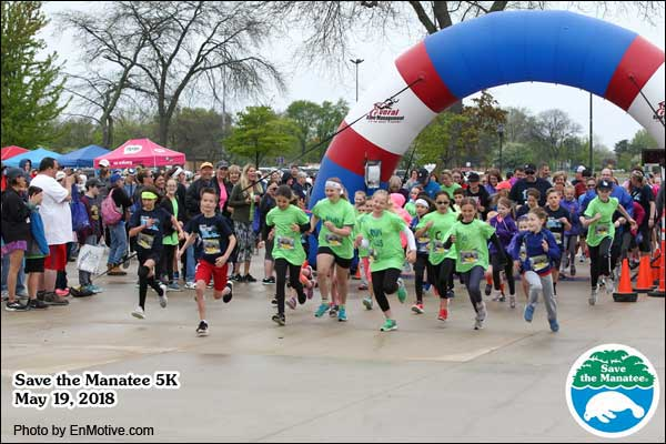 Runners at the 2018 Save the Manatee 5K race in Michigan.