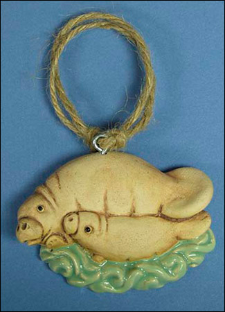 Mothers Day Manatee and Calf Ornament
