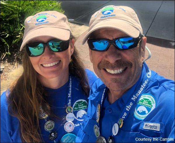 Save the Manatee Club Volunteers Tim and Tamara Carroll