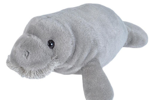 9-inch plush manatee toy