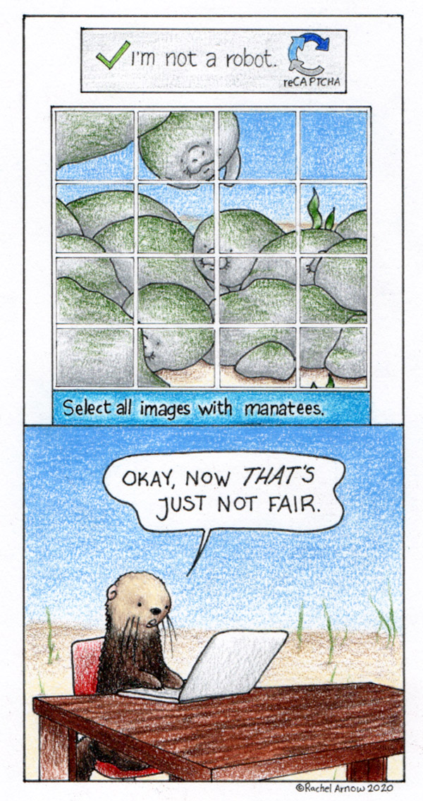 Man versus Manatee comic
