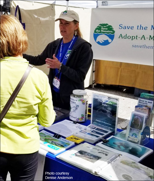 Save the Manatee Club Volunteer Denise Anderson
