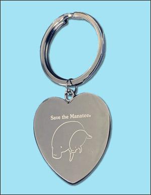 Save the Manatee Keychain