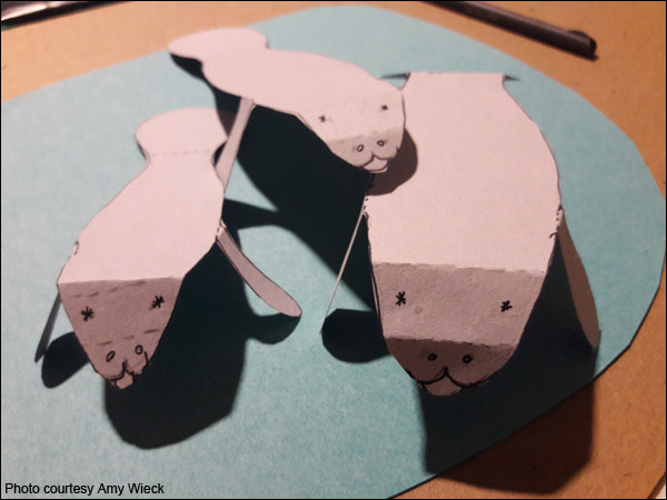 manatee tabletop craft project
