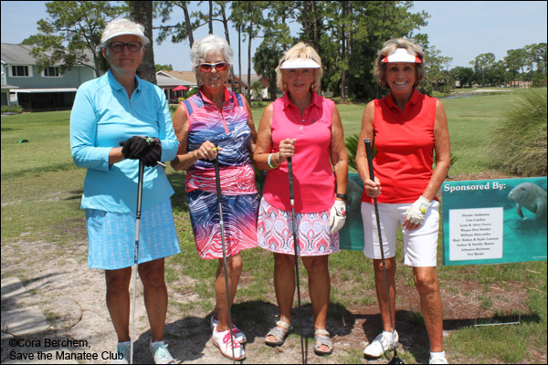 Foursome at the Save the Manatee Golf Tournament.