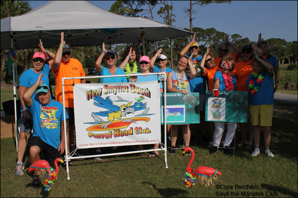 New Smyrna Beach Parrot Heads at the Save the Manatee Golf Tournament.