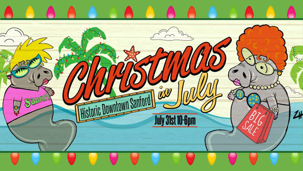 Christmas in July Shopping Event @Historic Downtown Sanford, FL