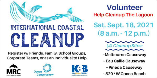 MRC International Coastal Cleanup @ Melbourne, FL
