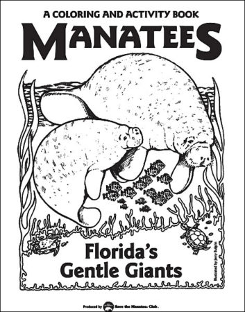 Manatees: Florida's Gentle Giants Coloring Book